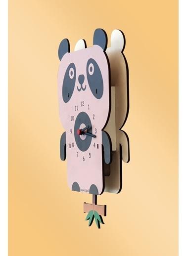 Peoples Clock Yaramaz Panda Sallanan Sarkaçlı Çocuk Odası Duvar Saati Renkli
